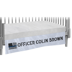 Blue Line Police Crib Skirt (Personalized)
