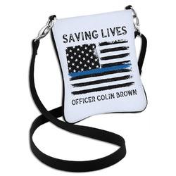 Blue Line Police Cross Body Bag - 2 Sizes (Personalized)