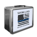 Blue Line Police Lunch Box (Personalized)