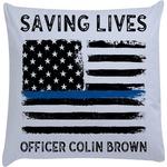 Blue Line Police Decorative Pillow Case (Personalized)