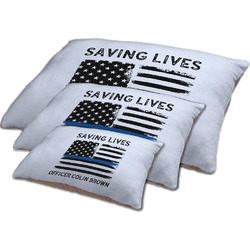Blue Line Police Dog Bed w/ Name or Text