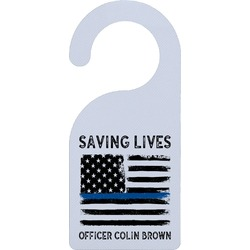 Blue Line Police Door Hanger (Personalized)