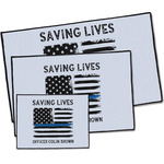 Blue Line Police Door Mat (Personalized)
