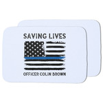 Blue Line Police Dish Drying Mat (Personalized)