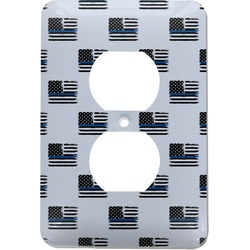 Blue Line Police Electric Outlet Plate (Personalized)