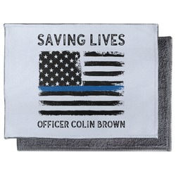 Blue Line Police Microfiber Screen Cleaner (Personalized)