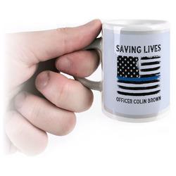 Blue Line Police Espresso Cups (Personalized)