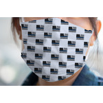 Blue Line Police Face Mask Cover (Personalized)