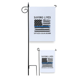 Blue Line Police Garden Flag (Personalized)