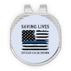 Blue Line Police Golf Ball Marker - Hat Clip