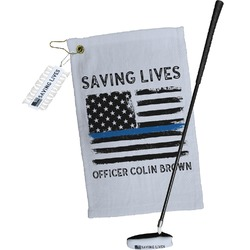 Blue Line Police Golf Towel Gift Set (Personalized)