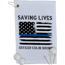 Blue Line Police Golf Towel - Full Print (Personalized)