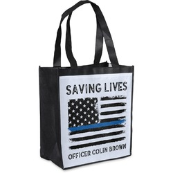 Blue Line Police Grocery Bag (Personalized)