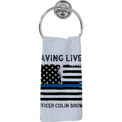 Blue Line Police Hand Towel - Full Print (Personalized)