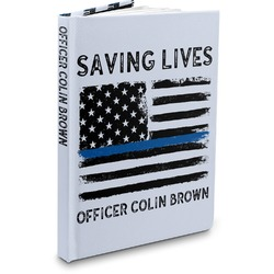 Blue Line Police Hardbound Journal (Personalized)