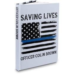 Blue Line Police Hardbound Journal (Personalized)