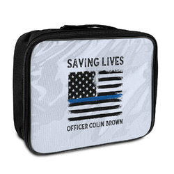 Blue Line Police Insulated Lunch Bag (Personalized)