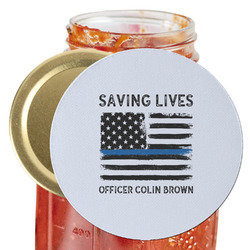 Blue Line Police Jar Opener (Personalized)