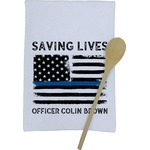 Blue Line Police Kitchen Towel - Full Print (Personalized)