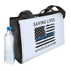 Blue Line Police Ladies Workout Bag (Personalized)