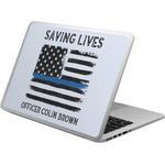 Blue Line Police Laptop Skin - Custom Sized (Personalized)