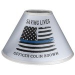 Blue Line Police Coolie Lamp Shade (Personalized)