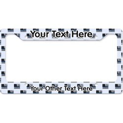 Blue Line Police License Plate Frame (Personalized)