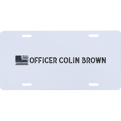 Blue Line Police Front License Plate (Personalized)