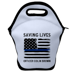 Blue Line Police Lunch Bag (Personalized)