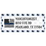 Blue Line Police Return Address Label (Personalized)