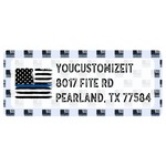 Blue Line Police Return Address Labels (Personalized)