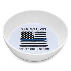 Blue Line Police Melamine Bowl 8oz (Personalized)