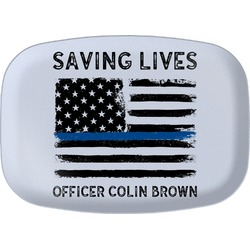 Blue Line Police Melamine Platter (Personalized)