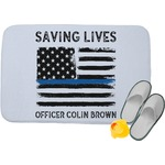Blue Line Police Memory Foam Bath Mat (Personalized)