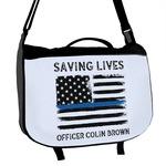 Blue Line Police Messenger Bag (Personalized)