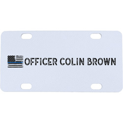 Blue Line Police Mini / Bicycle License Plate (Personalized)