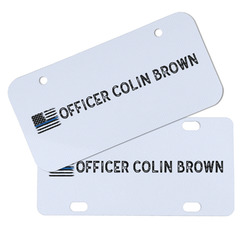 Blue Line Police Mini/Bicycle License Plates (Personalized)