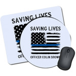 Blue Line Police Mouse Pads (Personalized)