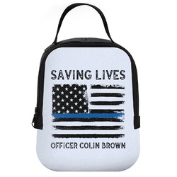 Blue Line Police Neoprene Lunch Tote (Personalized)