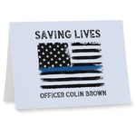 Blue Line Police Note cards (Personalized)