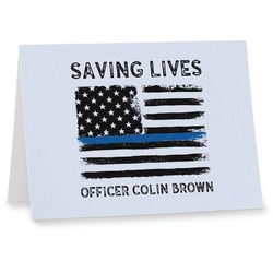 Blue Line Police Notecards (Personalized)