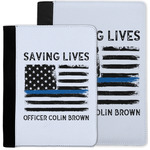 Blue Line Police Notebook Padfolio w/ Name or Text