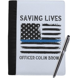 Blue Line Police Notebook Padfolio (Personalized)