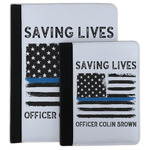 Blue Line Police Padfolio Clipboard (Personalized)