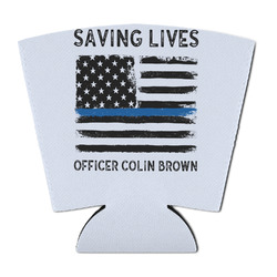Blue Line Police Party Cup Sleeve (Personalized)