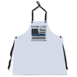 Blue Line Police Apron Without Pockets w/ Name or Text