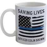 Blue Line Police Coffee Mug (Personalized)