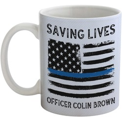 Blue Line Police Coffee Mug (Personalized)