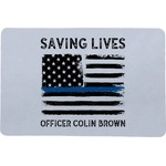 Blue Line Police Comfort Mat (Personalized)