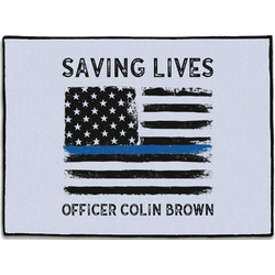 Blue Line Police Door Mat (Personalized)